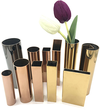 Stainless steel color tube