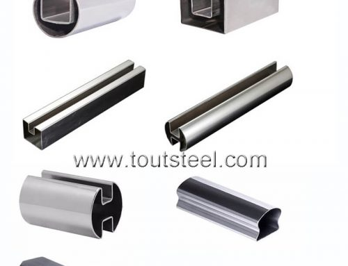 Stainless steel 180 Degree Square Double Slot Tube