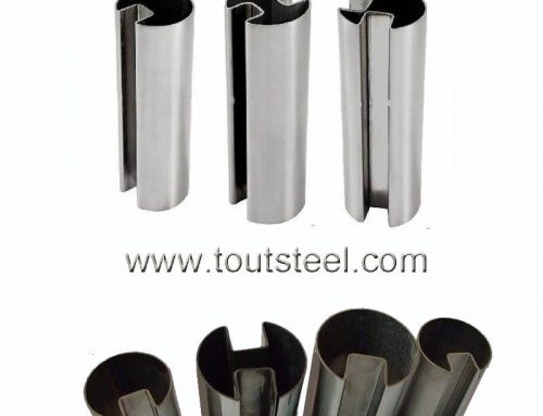 Stainless Ssteel 180 Degree Round Double Slot Tube