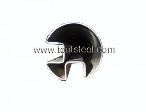 Stainless Steel Round Double Slot Tube