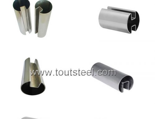 Stainless Steel Square Double Slot Tube