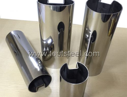 Stainless Steel Round Groove Tube