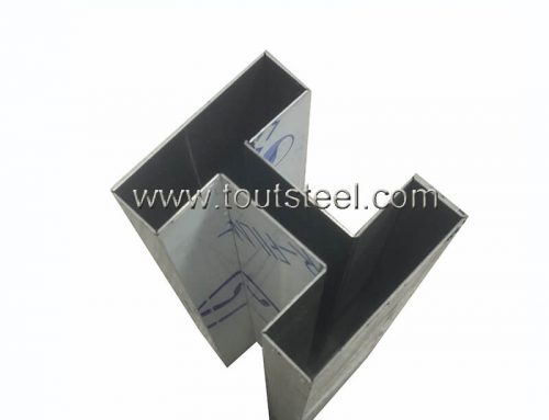 Stainless steel bending profile F